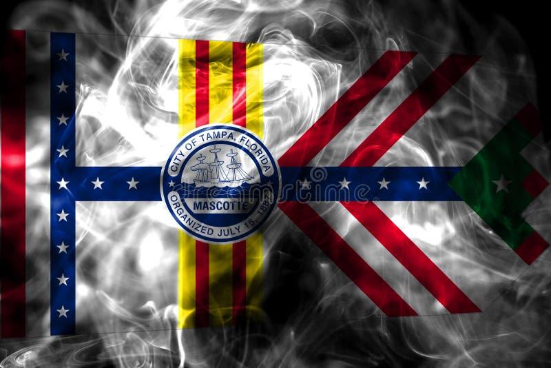 Bandeira do fumo da cidade de Tampa, estado de Florida, Estados Unidos da América ilustração do vetor