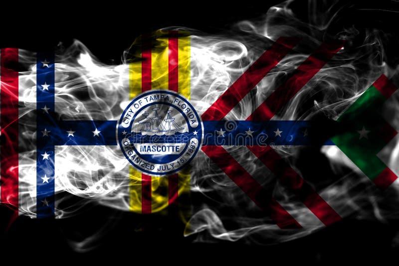 Bandeira do fumo da cidade de Tampa, estado de Florida, Estados Unidos da América ilustração stock