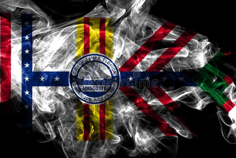 Bandeira do fumo da cidade de Tampa, estado de Florida, Estados Unidos da Am?rica ilustração royalty free
