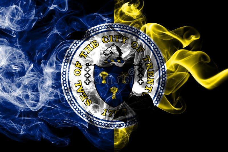Bandeira do fumo da cidade de Trenton, estado de New-jersey, Estados Unidos da América ilustração do vetor