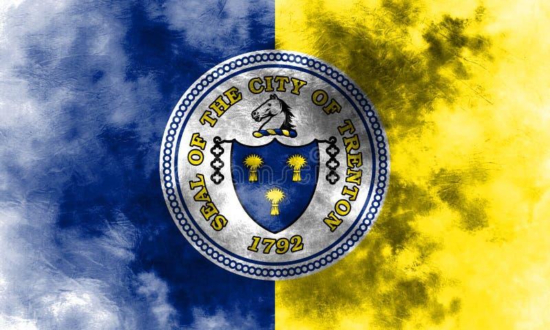 Bandeira do fumo da cidade de Trenton, estado de New-jersey, Estados Unidos de Amer ilustração do vetor
