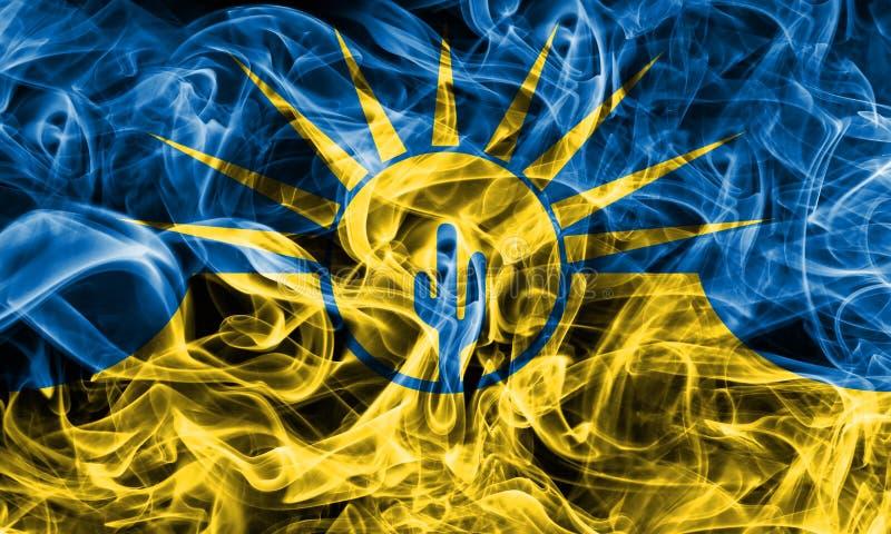Bandeira do fumo da cidade do Mesa, estado do Arizona, Estados Unidos da América fotos de stock