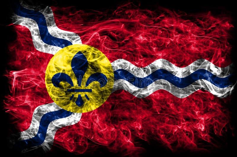 Bandeira do fumo da cidade do Saint Louis, estado de Missouri, Estados Unidos do Am fotos de stock royalty free
