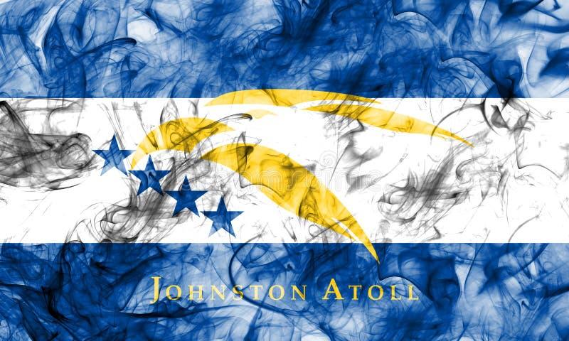 Bandeira do fumo de Johnston Atoll, território dependente fl do Estados Unidos ilustração stock
