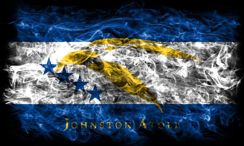 Bandeira do fumo de Johnston Atoll, território dependente fl do Estados Unidos ilustração do vetor