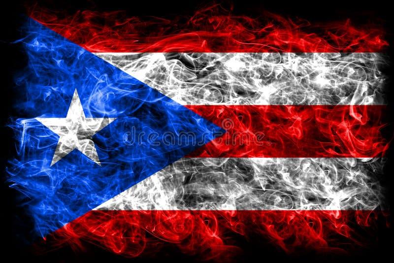 Bandeira do fumo de Porto Rico, bandeira dependente do território do Estados Unidos ilustração royalty free