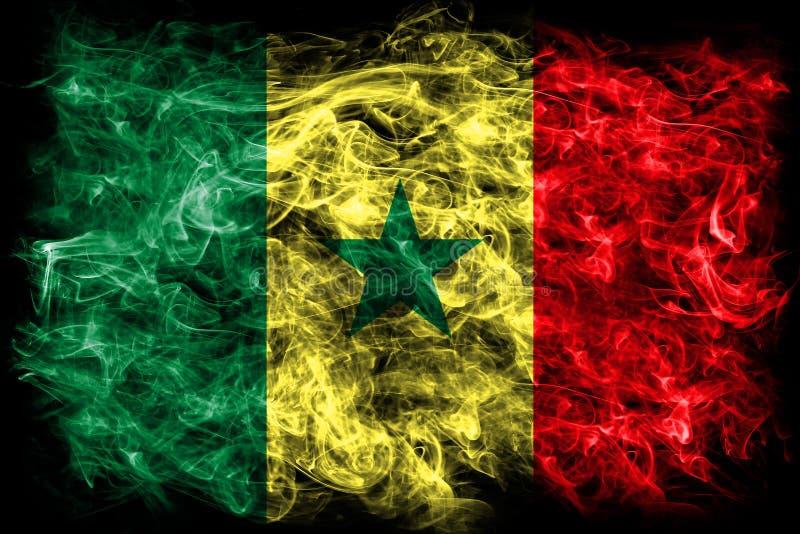 Bandeira do fumo de Senegal em um fundo preto ilustração royalty free