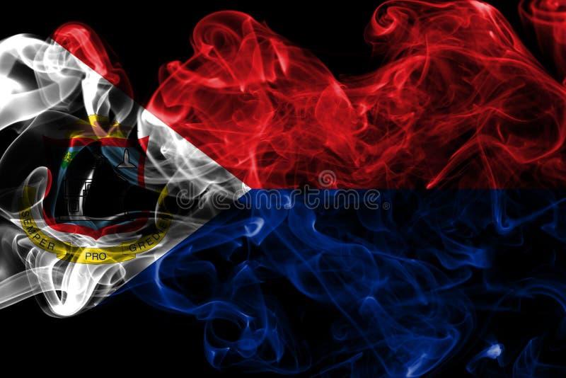 Bandeira do fumo de Sint Maarten, bandeira dependente holandesa do território fotografia de stock
