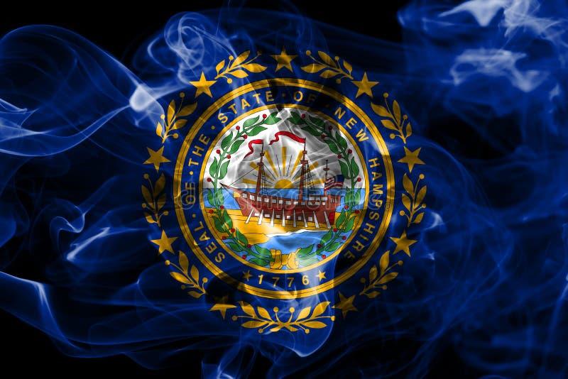 Bandeira do fumo do estado de New Hampshire, Estados Unidos da América imagem de stock