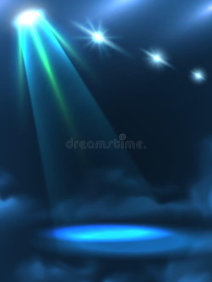 Bandeira do fundo do feixe luminoso de verde azul ilustração stock