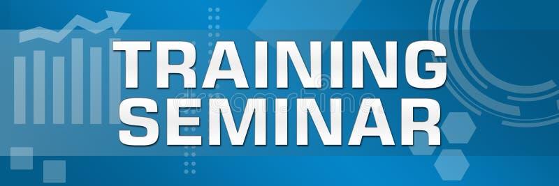 Bandeira do fundo do tema do negócio do seminário de treinamento ilustração do vetor