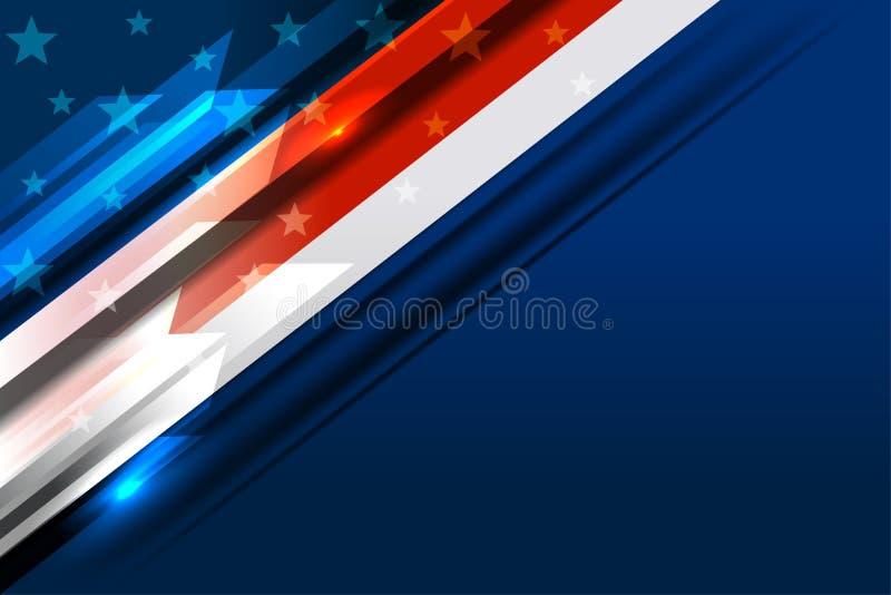 Bandeira do fundo dos EUA ilustração do vetor