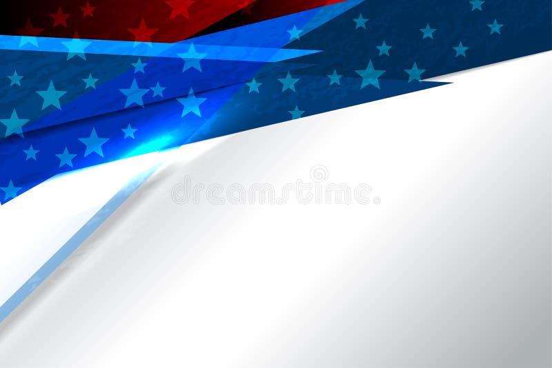Bandeira do fundo dos EUA ilustração royalty free
