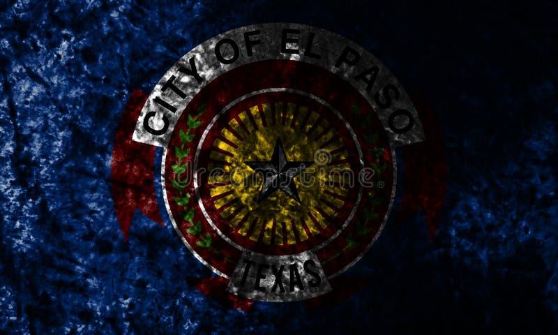 Bandeira do fundo do grunge da cidade de El Paso, Texas State, Estados Unidos da América fotos de stock