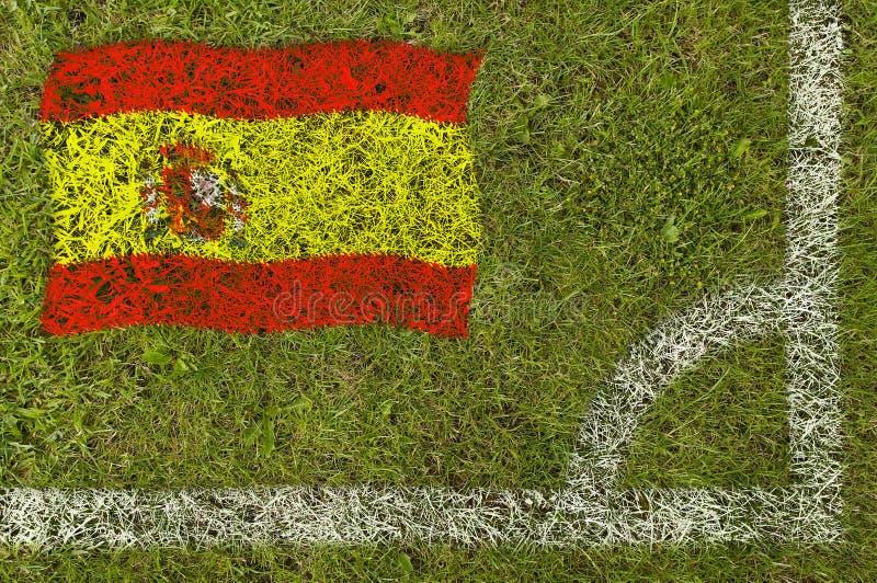 Bandeira do futebol fotos de stock royalty free