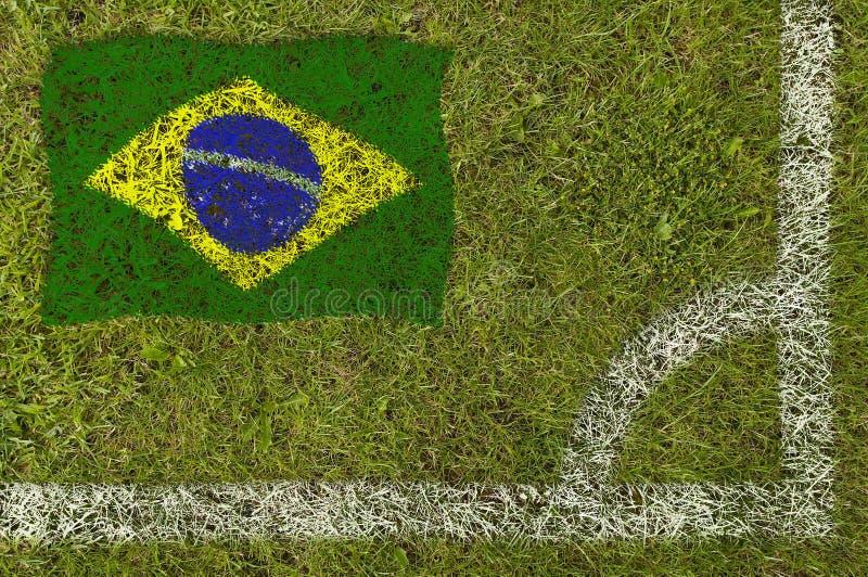 Bandeira do futebol fotografia de stock royalty free