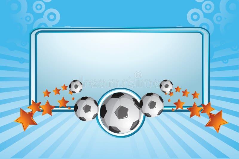 Bandeira do futebol ilustração stock