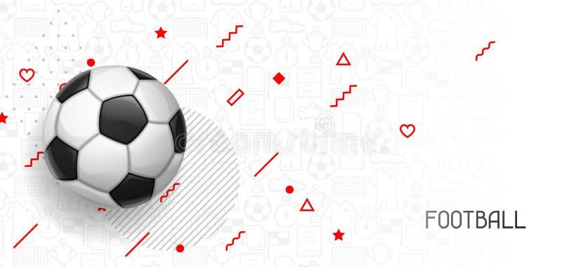 Bandeira do futebol ou do futebol com bola Ostenta a ilustração ilustração royalty free