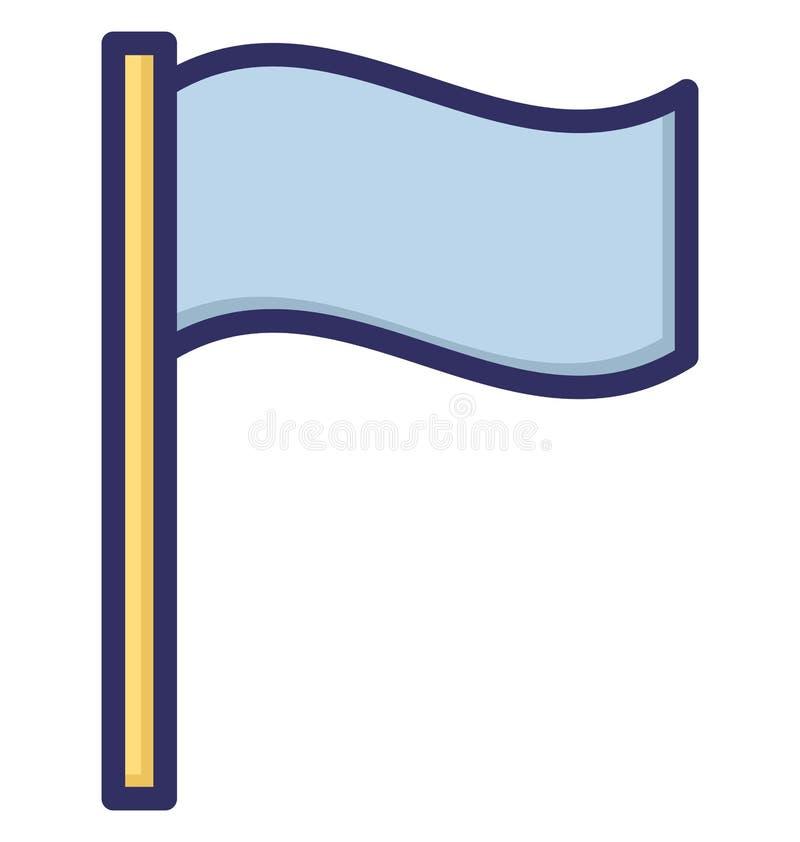 bandeira do golfe, ícone isolado viagem do vetor que pode facilmente ser alterado ou editado ilustração stock