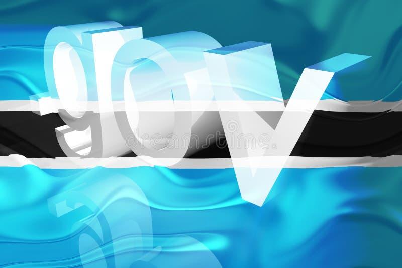 Bandeira do governo ondulado de Botswana ilustração royalty free