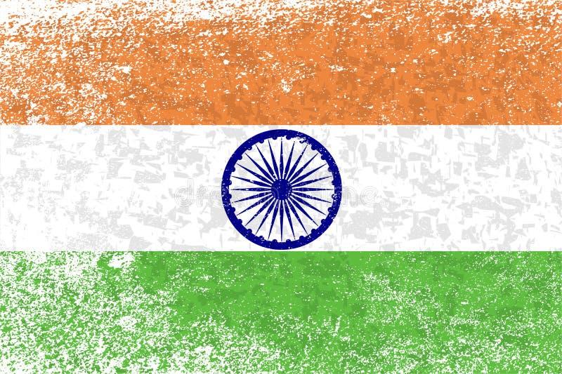 Bandeira do Grunge da Índia ilustração royalty free