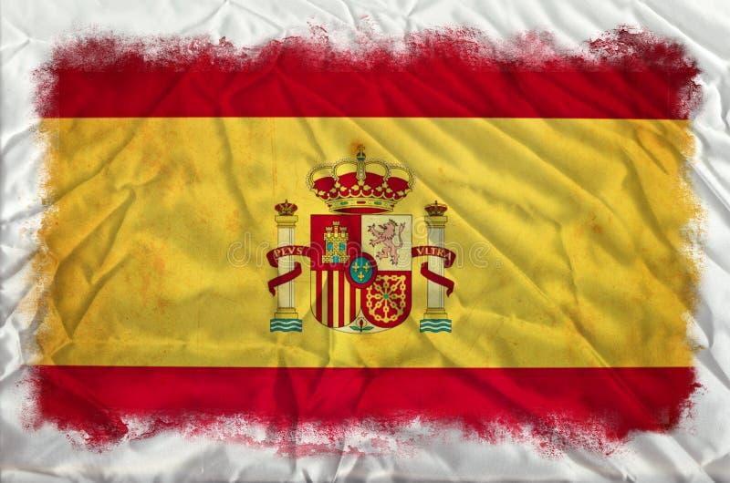 Bandeira do grunge da Espanha fotos de stock