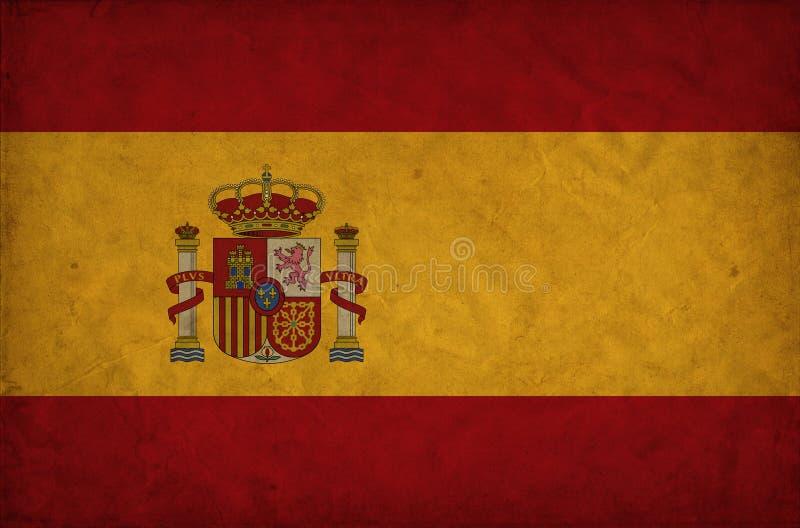 Bandeira do grunge da Espanha imagem de stock royalty free
