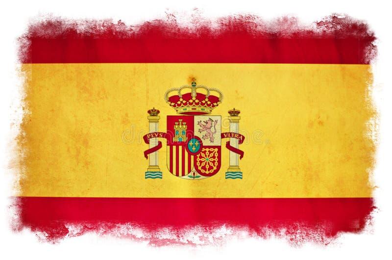 Bandeira do grunge da Espanha foto de stock