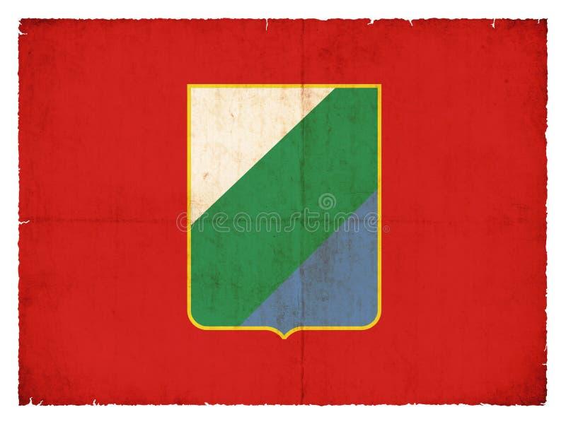 Bandeira do Grunge de Abruzzi Itália foto de stock
