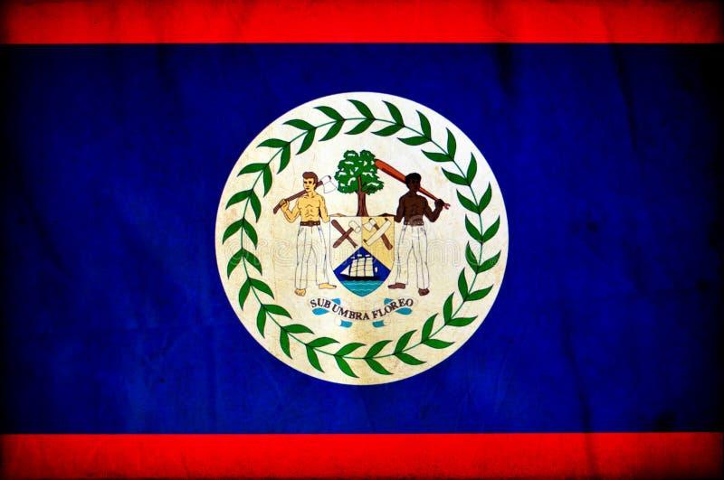 Bandeira do grunge de Belize ilustração stock