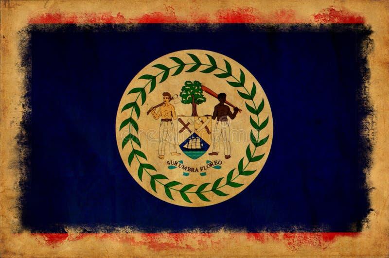 Bandeira do grunge de Belize ilustração royalty free