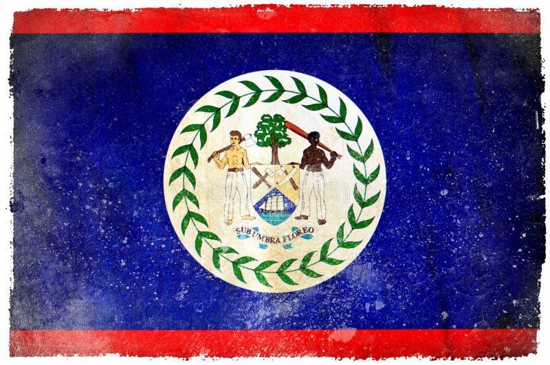 Bandeira do grunge de Belize ilustração do vetor