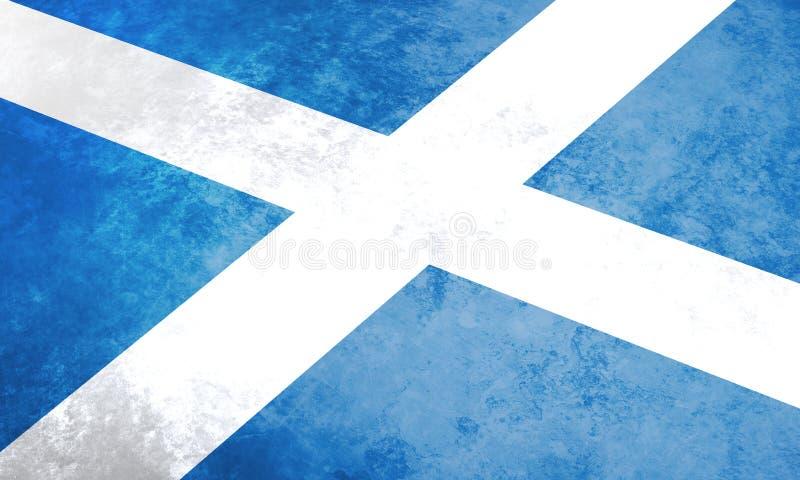 Bandeira do grunge de Escócia ilustração royalty free