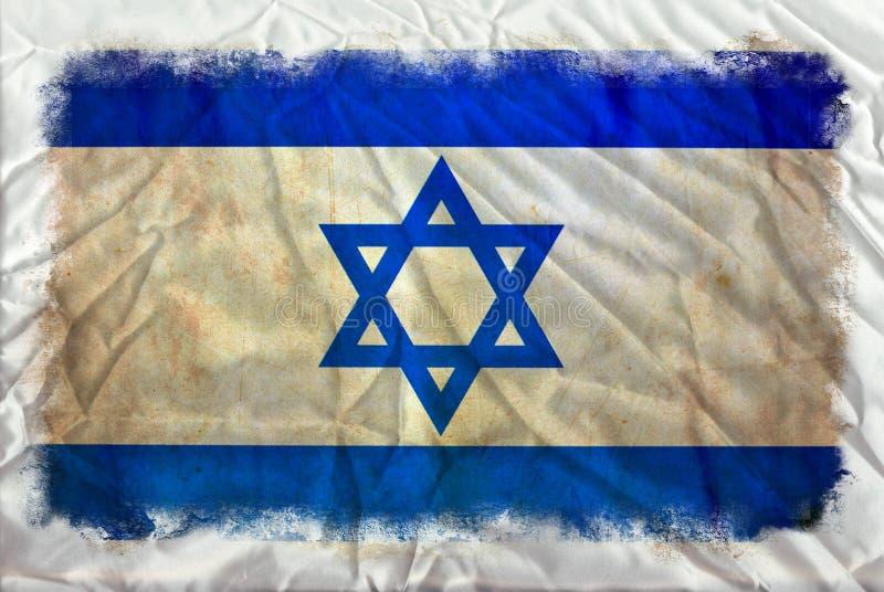 Bandeira do grunge de Israel ilustração royalty free