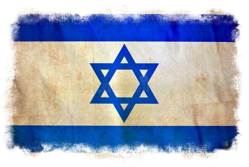 Bandeira do grunge de Israel ilustração do vetor