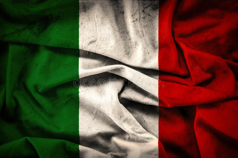 Bandeira do Grunge de Itália - fundo do vintage imagem de stock