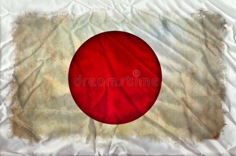 Bandeira do grunge de Jap?o ilustração do vetor