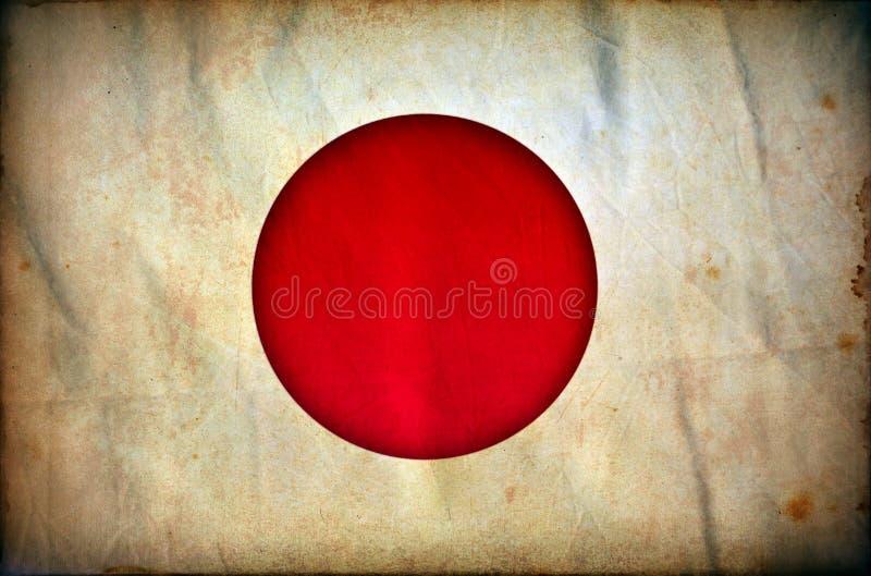 Bandeira do grunge de Jap?o ilustração royalty free