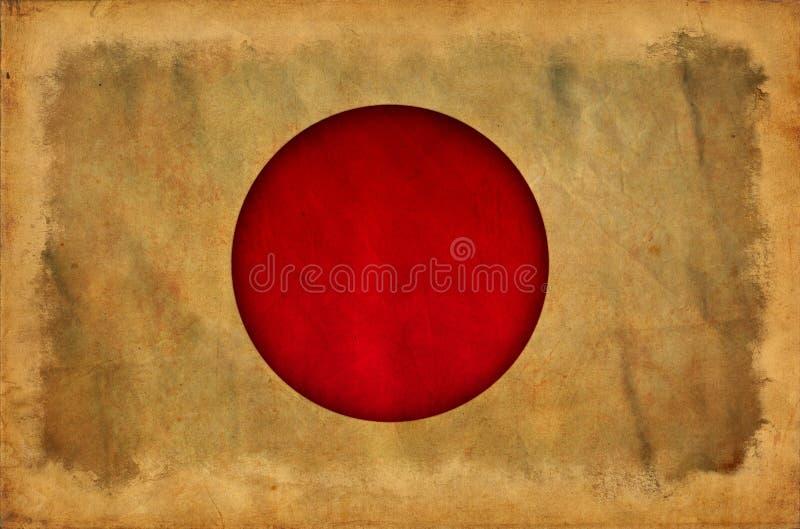 Bandeira do grunge de Jap?o ilustração stock
