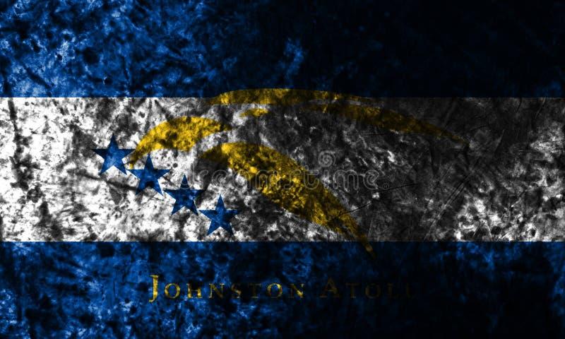 Bandeira do grunge de Johnston Atoll, bandeira dependente do território do Estados Unidos ilustração stock