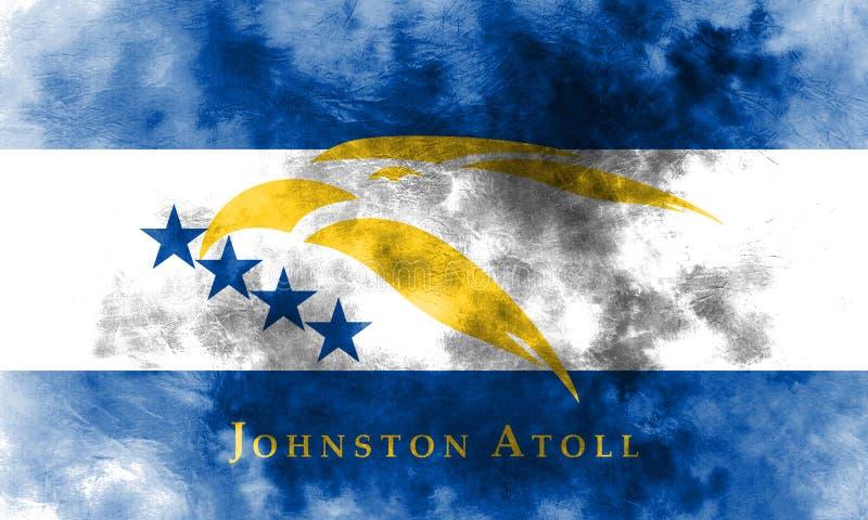 Bandeira do grunge de Johnston Atoll, território dependente f do Estados Unidos ilustração royalty free