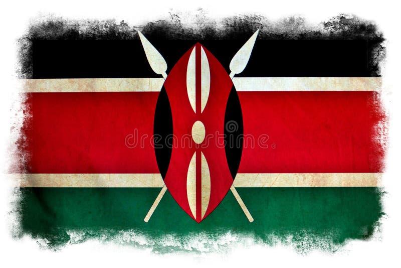 Bandeira do grunge de Kenya ilustração royalty free