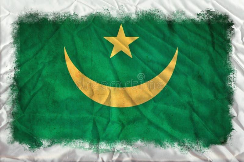 Bandeira do grunge de Maurit?nia ilustração royalty free