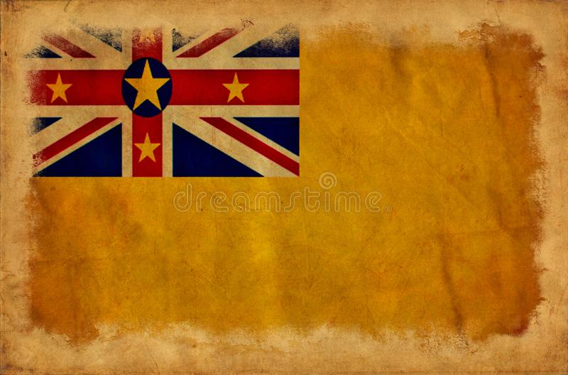 Bandeira do grunge de Niue fotografia de stock royalty free