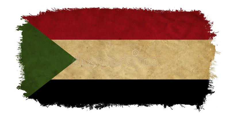 Bandeira do Grunge de Sud?o imagem de stock royalty free