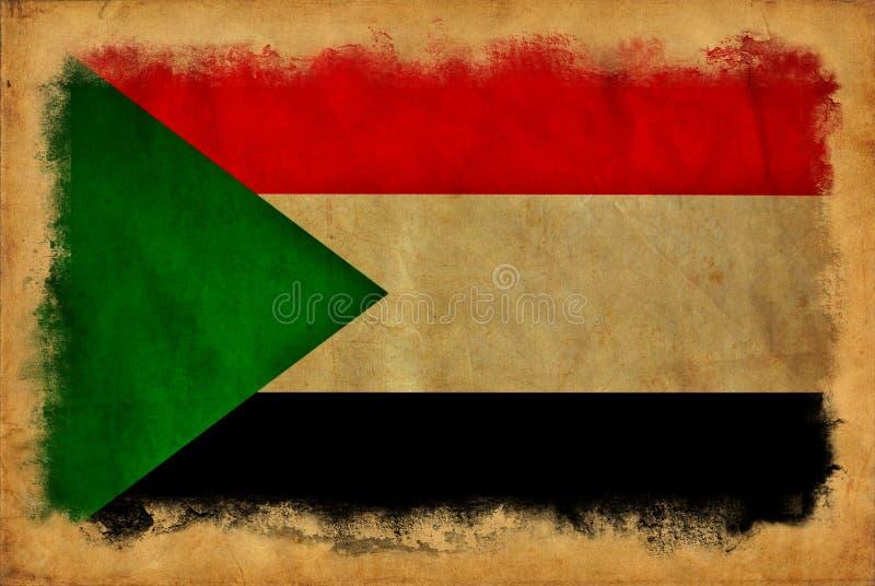Bandeira do Grunge de Sud?o foto de stock royalty free