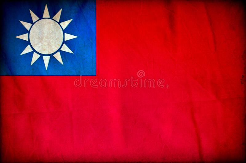 Bandeira do grunge de Taiwan fotos de stock royalty free
