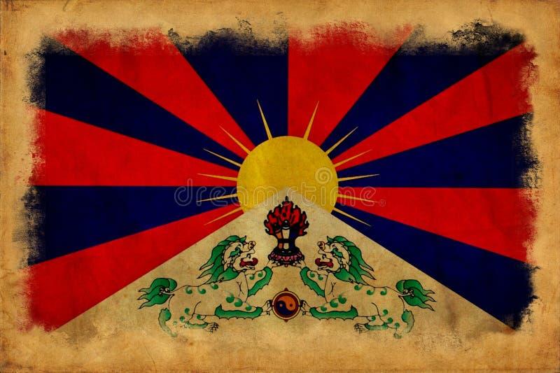 Bandeira do grunge de Tibet imagem de stock