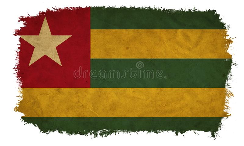 Bandeira do grunge de Togo foto de stock royalty free