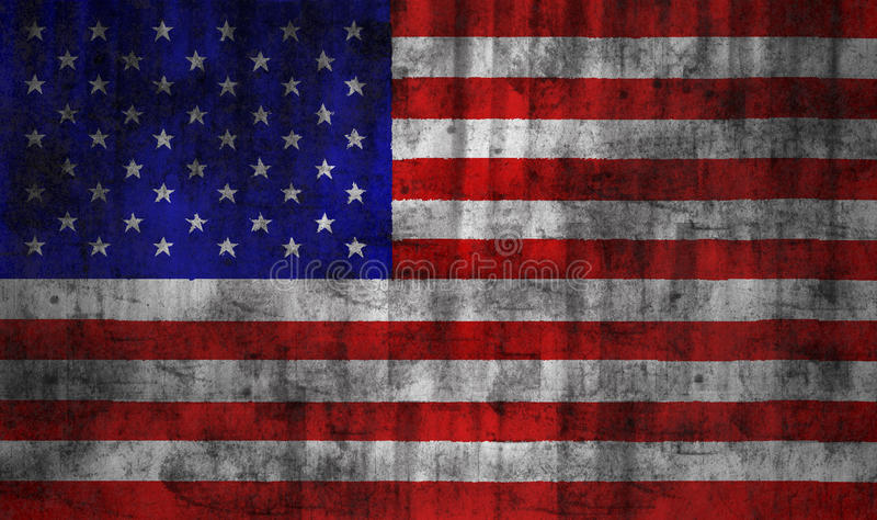Bandeira do grunge dos EUA ilustração stock